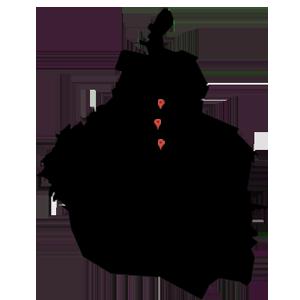 mapa map ubicación de tiendas de telas en CDMX, portales, Alamos, Miramontes