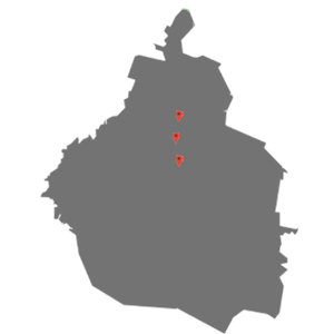 Mapa para tienda de telas en CDMX portales, miramontes, alamos