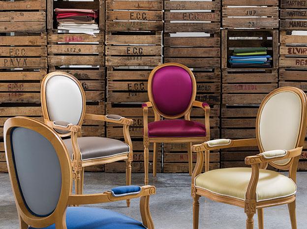 imagen de sillas tapicería telas