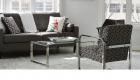 img salas tapicería telas materiales diseños  en color negro para oficinas