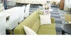 img salas tapicería telas materiales diseños de color blanco con verde